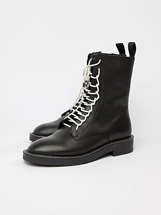 3afae68e887f Asos Alarm leather lace up boots - Black