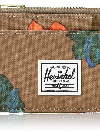 Herschel Herschel Mens Oscar Card Case Wallet, Vintage Floral Pine Bark, One Size