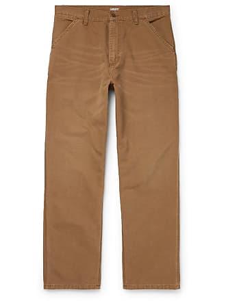 Carhartt Work in Progress Single Knee Wide-leg Cotton-canvas Trousers - Camel