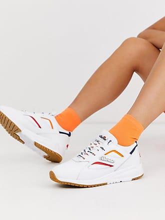 Ellesse Ellesse - Contest - Weiße Ledersneaker mit Kontrastdesign