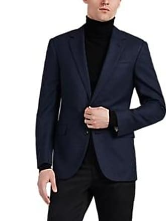32672166015e Ralph Lauren Purple Label Mens Checked Wool-Blend Two-Button Sportcoat -  Navy Size