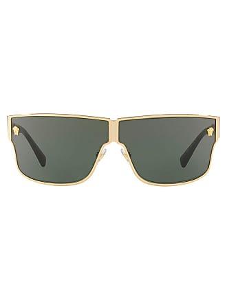 Versace Óculos de sol retangular espelhado - 100271