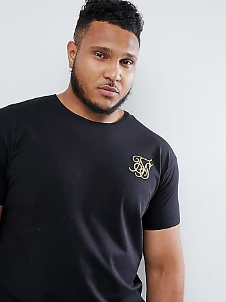 2684f321 Siksilk curved hem t-shirt in black exclusive to ASOS