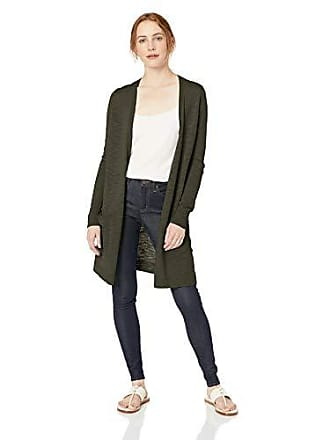 Daily Ritual Womens Lightweight Duster Cardigan, Dark Olive, X-Large