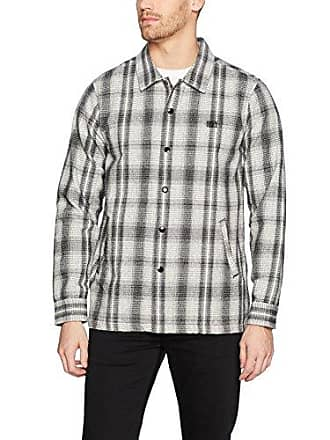 Obey Mens Whittier Coaches Jacket, Neutral Grey/Multi, S