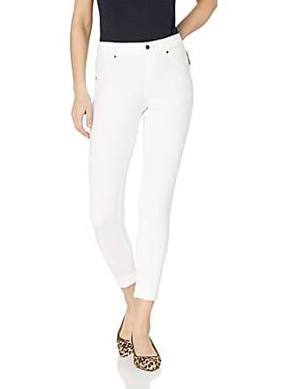 Hue Womens Essential Denim Jean Skimmer Leggings, Assorted, Cuffed/White M