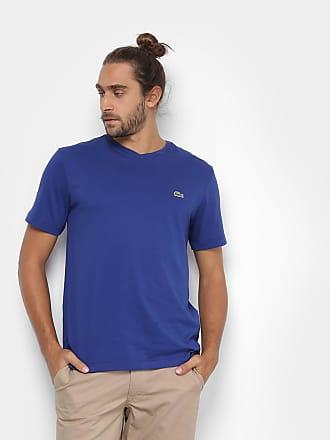 b9a7a1df64504 Lacoste Camiseta Lacoste Gola V Masculina - Masculino