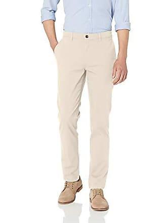 Amazon Essentials Mens Skinny-Fit Broken-in Chino Pant, Stone, 32W x 32L