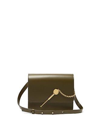 2f8e36535810 Sophie Hulme Cocktail Stirrer Large Leather Cross Body Bag - Womens - Khaki