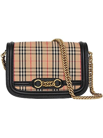 Burberry 1983 Check Link Bag - Black