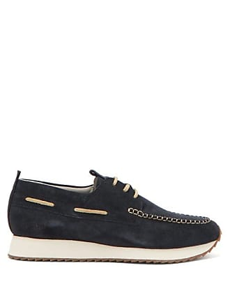 7347516156 Grenson Sneaker 15 Suede Deck Shoes - Mens - Navy