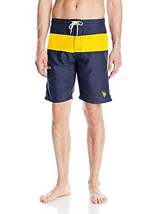 8e459b5b38 U.S.Polo Association Mens Color-Block Swim Short, 4698-Classic Navy, XL