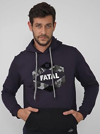 Fatal Surf Moletom Flanelado Fechado Fatal Logo Roxo