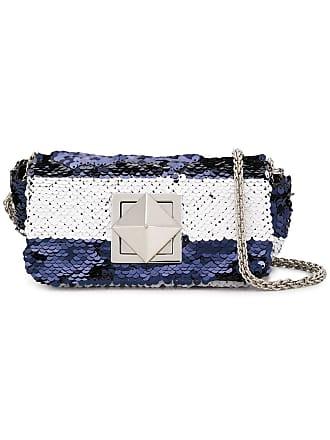 Sonia Rykiel small sequinned crossbody bag - Azul