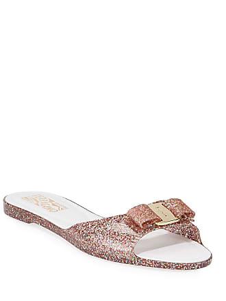 f084e040666c Salvatore Ferragamo Cirella Glittered Jelly Slide Sandals
