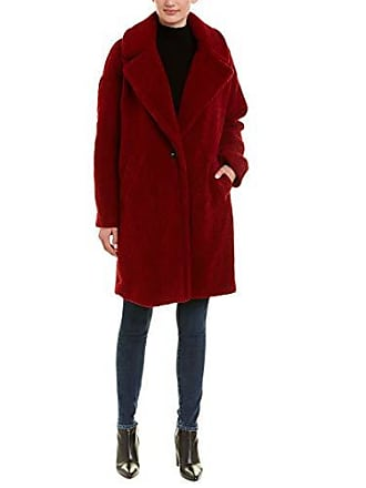 Kendall + Kylie Womens Single Breasted Coat, red, Small