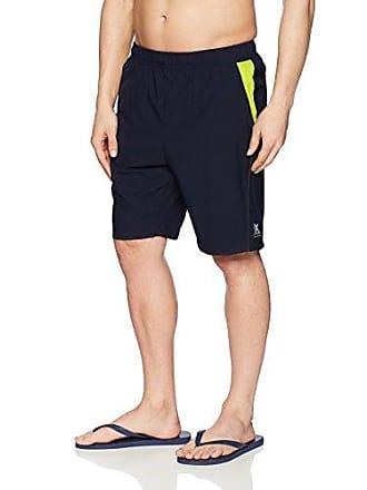 ZeroXposur Mens Fusion Gym to Swim Short, Indigo, Large