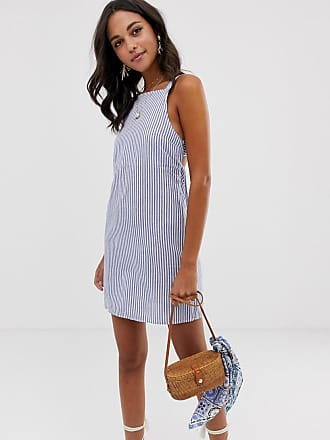 545f9d07e8ae1 Asos buckle back cotton mini sundress in stripe - Multi