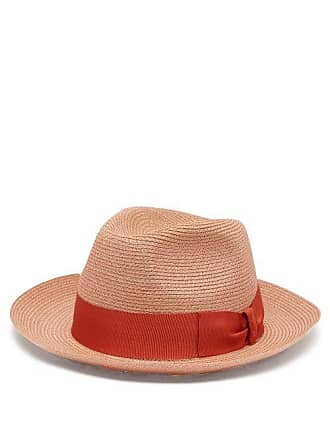 d2346039db5606 Borsalino Grosgrain Trim Hemp Panama Hat - Mens - Brown