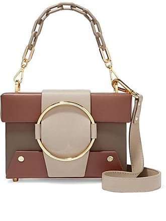 Yuzefi Asher Small Color-block Textured-leather Shoulder Bag - Brown