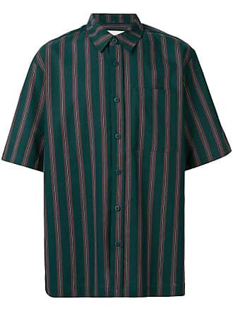 Han Kjobenhavn Camisa listrada mangas curtas - Verde