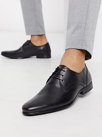 Burton Menswear leather derby shoe in black