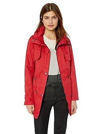 Yoki Womens Anorak Rain Jacket, RED, Medium