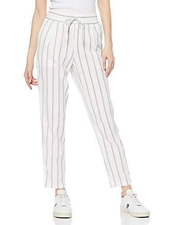 e0930d2dd51 Vero Moda Vmanna Milo Citrus Ancle Pant Stripe Wvn Pantaloni, Multicolore  (Snow White Stripes