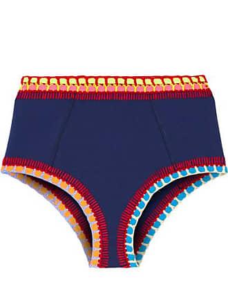 fc0f0d792d Kiini Tasmin Crochet-trimmed Bikini Briefs - Navy