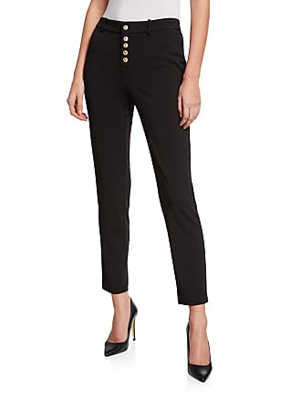 Iconic American Designer Slim Button-Front Pants