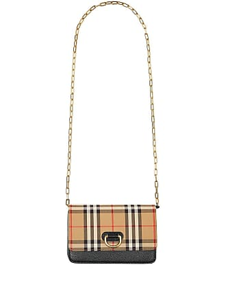 d2bf85e17 Burberry The Mini Vintage Check and Leather D-ring Bag - Preto