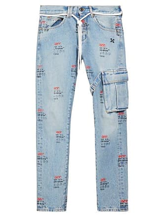 4fbeaa91 Off-white Off-white - Distressed Slim Leg Jeans - Mens - Indigo