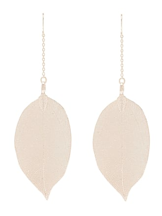 Forever New Cherry Dainty Leaf Drop Earrings - Rose Gold - 00