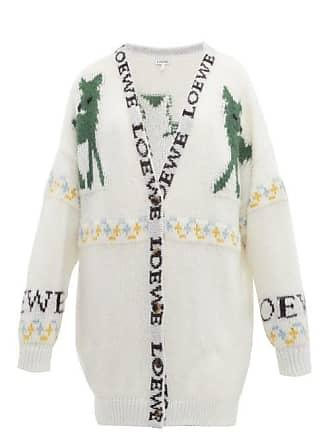 6f193b0940b04d Loewe Deer Jacquard Mohair Blend Cardigan - Womens - Cream Multi