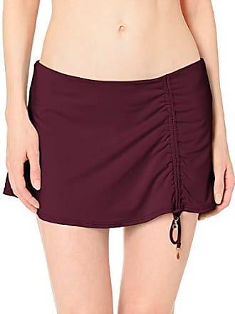 32877f807eb46 Anne Cole Womens Solid Adjustable Sarong Skirted Swim Bottom, Aubergene  Sangria, Medium