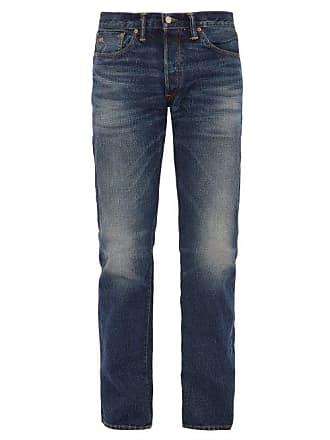 Ralph Lauren Rrl - Straight Leg Washed Denim Jeans - Mens - Blue