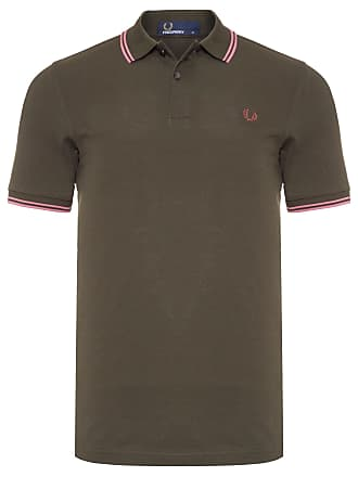 Fred Perry POLO MASCULINA TWIN TIPPED - VERDE