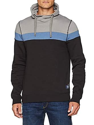 a42354a92311 Tom Tailor Kaputzen Sweatjacke Mit Streifen, Colorblock, Sweat-Shirt Homme,  Gris (