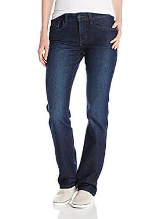 NYDJ Womens Marilyn Straight Leg Denim Jeans, Burbank Wash, 8