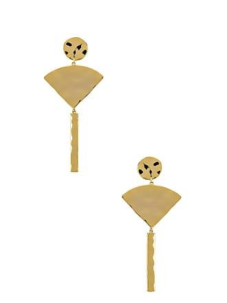 Gorjana Luca Fan Earrings in Metallic Gold