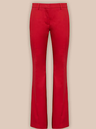 L'autre Chose CHERRY-RED FLARED TROUSERS