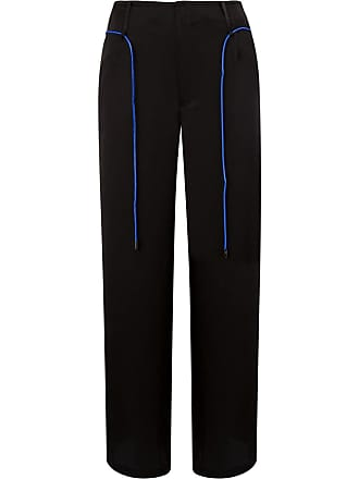 Quetsche contrast cropped trousers - Black