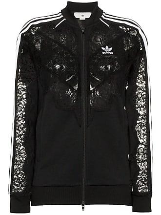 Stella McCartney x adidas 3-stripe lace trimmed jacket - Black