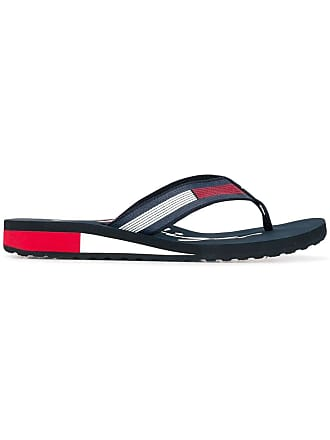 356440673 Tommy Hilfiger signature colour-blocked flip flops - Blue