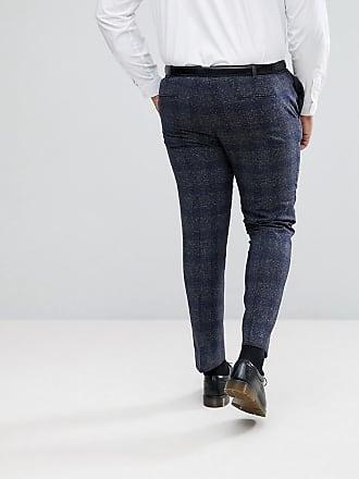 0ac63164943 Heart   Dagger Plus Size Skinny Suit Pants In Fleck Grid - Grey