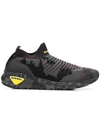 Diesel camouflage slip-on sneakers - Cinza