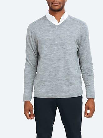 Ministry of Supply Atlas V-Neck Sweater - Grey Heather size XXL