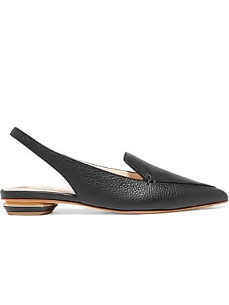 c8a715864dc Nicholas Kirkwood Beya Textured-leather Point-toe Flats - Black