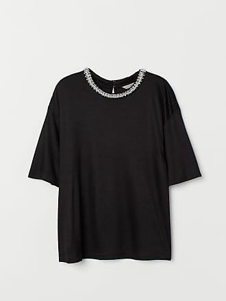 H&M Beaded Top - Black