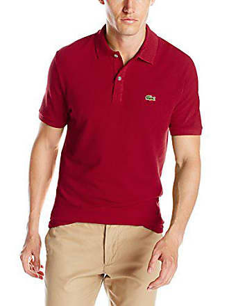 876eab17 Lacoste Mens Short Sleeve Classic Pique Slim Fit Polo Shirt, Bordeaux, XXX- Large